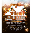Brick house on Christmas background vector image vector image
