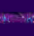 bridge connecting city districts cartoon vector image vector image