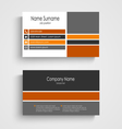 Business card with colored design stripes template vector image vector image