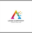 business corporate letter a logo design vector image vector image
