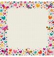 butterflies hearts border vector image vector image