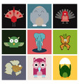 cartoon cute animals for baby card and invitation vector image vector image