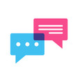 chat speech bubble icon vector image vector image