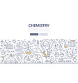 chemistry doodle concept vector image