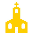 christian church flat icon vector image vector image