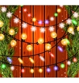 Christmas decorations glowing lights effects for vector image vector image