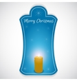 Christmas vertical sticker done in blue with vector image vector image