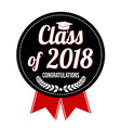 class of 2018 label or sticker vector image vector image