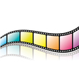 Colorful film roll with reflection vector | Price: 1 Credit (USD $1)