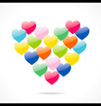 colorful valentine day greeting design vector image vector image