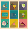 concept of flat icons with long shadow ecology vector image vector image