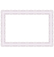 Decorative guilloche frame vector image vector image