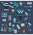 Dentistry surgery and medical checkup flat icons vector image