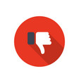 dislike icon in flat design dislike icon with vector image vector image