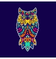 Ethnic pattern with the image of an owl vector image