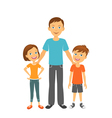 Father with kids Happy family Father with children vector image vector image