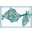 fish drawing vector image vector image