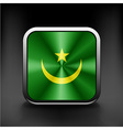 Flag of Mauritania as round glossy icon vector image vector image