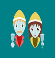 flat on background of man woman wine glasses vector image vector image