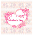 Happy Mothers Day - Lovely Greeting Card vector image vector image