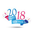 happy new year background with party popper vector image
