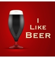 I like beer vector image vector image