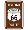 kansas historic route 66 vector image vector image