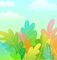 kids magic forest cartoon artistic background vector image vector image