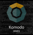 komodo cryptocurrency symbol vector image vector image