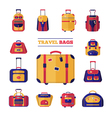 Luggage Travel Bags Set vector image