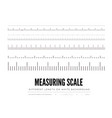 measuring rulers of different scale length and vector image vector image