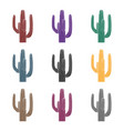 mexican cactus icon in black style isolated on vector image vector image