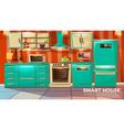modern smart kitchen interior vector image vector image