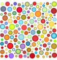 multi colour bubbles backdrop vector image vector image
