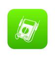 multi meter icon green vector image