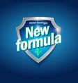 new formula logo sanitizer gel antiseptic shield vector image vector image