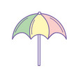 nice umbrella open to protect of sun vector image vector image