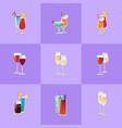 pair of cocktails elite classical and exotic drink vector image vector image