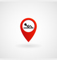 red location icon for fitness center eps file vector image