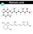 Retinoic acid vector image vector image