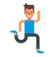 Running man Flat isolated on white background vector image vector image