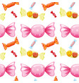 seamless pattern tile cartoon with candy vector image