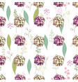 seamless pattern with pink and yellow hydrangea vector image vector image
