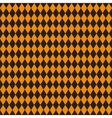 Seamless texture of rhombuses Black and orange vector image vector image
