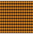 seamless texture rhombuses black and orange vector image vector image