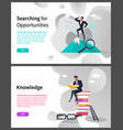 searching for opportunities and knowledge web page vector image vector image