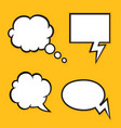 set comic bubbles with halftone shadows format vector image