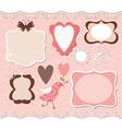 Set of cute romantic frames vector image