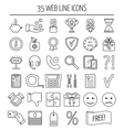 Set of linear web icons Line icons for business vector image vector image