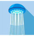 shower icon flat style vector image vector image